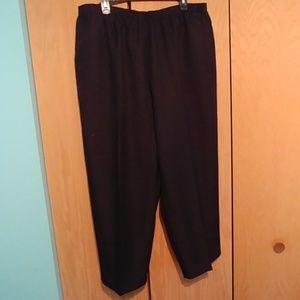 Alfred Dunner black pull on pants 24W-short